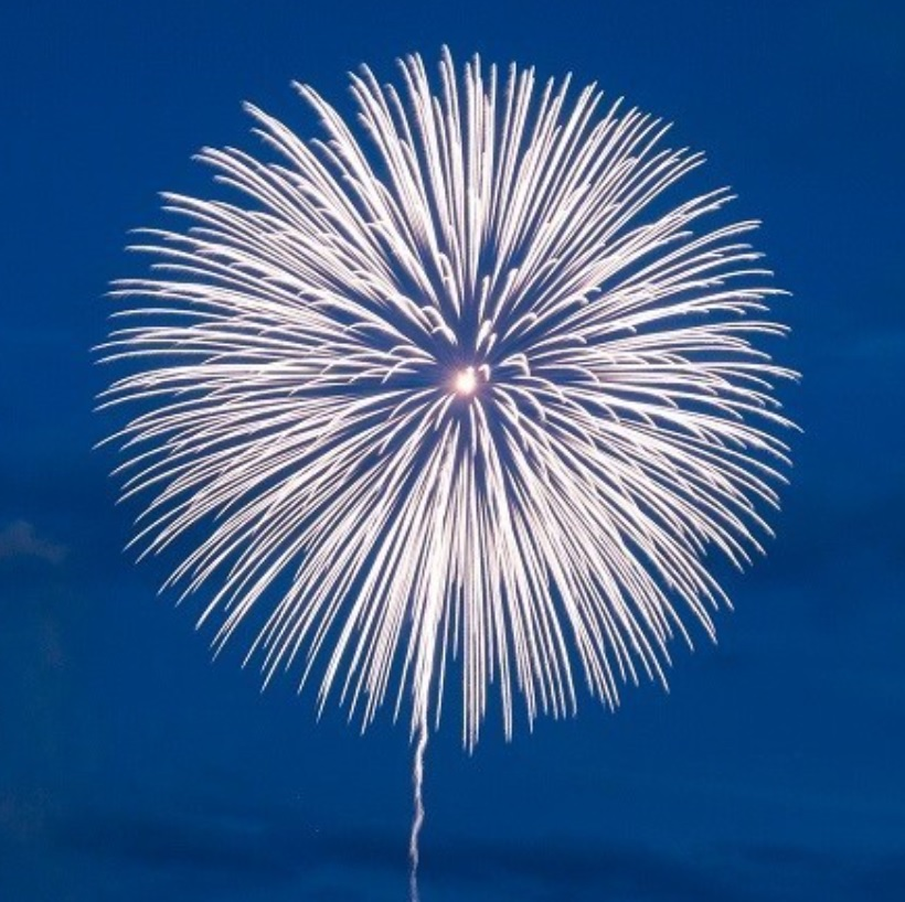 祈りの花火「白菊」打上のため、寄付しました / Shiragiku Fireworks in Kamaishi